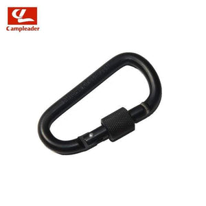 Lukowulf's Camping Haven Pure-Black 8cm Aluminum Alloy Spring Carabiner D-Ring Key Chain Clip Multi-color Camping Keyring Snap Hook Outdoor Travel Kit Quickdraws