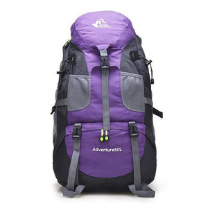Lukowulf's Camping Haven Purple 50L Hiking Backpack