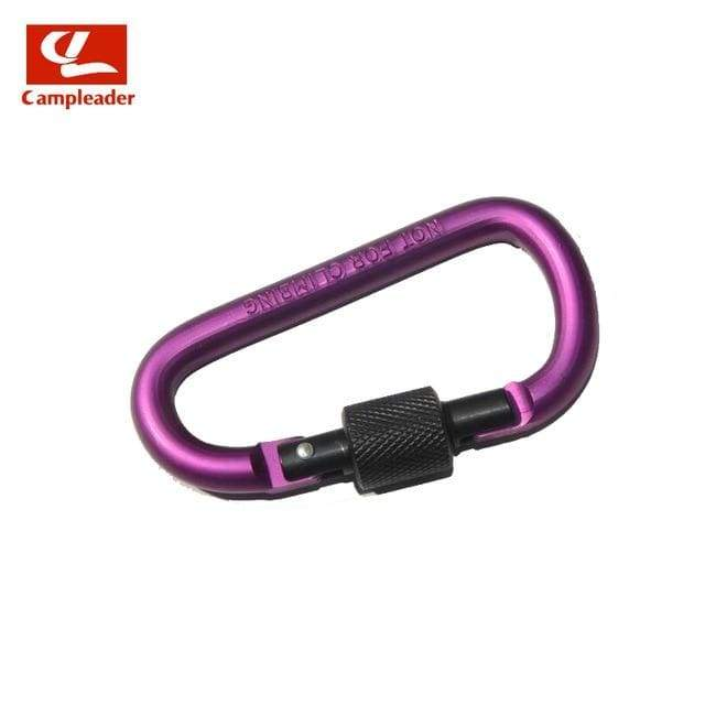 Lukowulf's Camping Haven Purple-Black 8cm Aluminum Alloy Spring Carabiner D-Ring Key Chain Clip Multi-color Camping Keyring Snap Hook Outdoor Travel Kit Quickdraws