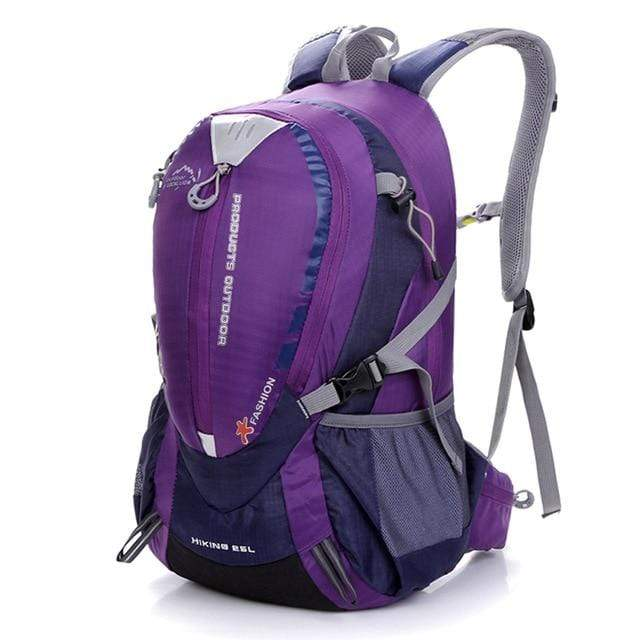 Lukowulf's Camping Haven Purple Color Waterproof Climbing Backpack Rucksack 25L Outdoor Sports Bag Travel Backpack Camping Hiking Backpack Women Trekking Bag For Men