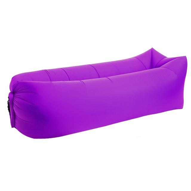 Lukowulf's Camping Haven Purple Square 2019 Trend Outdoor Products Fast Infaltable Air Sofa Bed Good Quality Sleeping Bag Inflatable Air Bag Lazy bag Beach Sofa Laybag