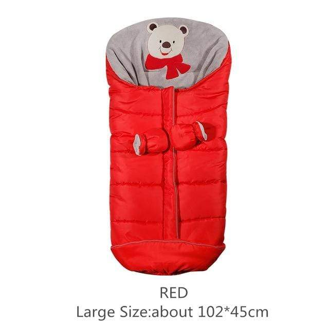 Lukowulf's Camping Haven Red 102x45cm Autumn Winter Warm Baby Sleeping Bag Sleepsack For Stroller,Soft Sleeping bag for baby,Baby slaapzak,sac couchage naissance