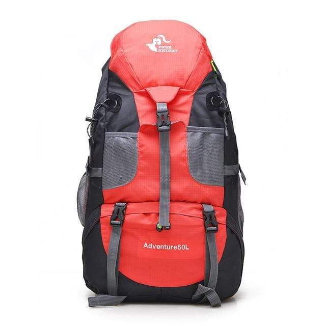 Lukowulf's Camping Haven Red 50L Hiking Backpack