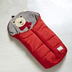 Lukowulf's Camping Haven Red 82x45cm Autumn Winter Warm Baby Sleeping Bag Sleepsack For Stroller,Soft Sleeping bag for baby,Baby slaapzak,sac couchage naissance