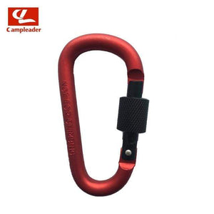 Lukowulf's Camping Haven Red-Black 8cm Aluminum Alloy Spring Carabiner D-Ring Key Chain Clip Multi-color Camping Keyring Snap Hook Outdoor Travel Kit Quickdraws