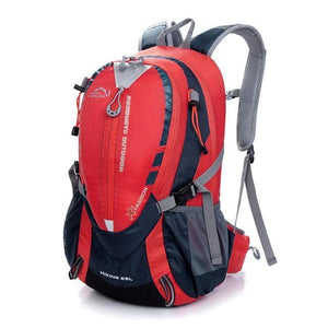 Lukowulf's Camping Haven Red Color Waterproof Climbing Backpack Rucksack 25L Outdoor Sports Bag Travel Backpack Camping Hiking Backpack Women Trekking Bag For Men