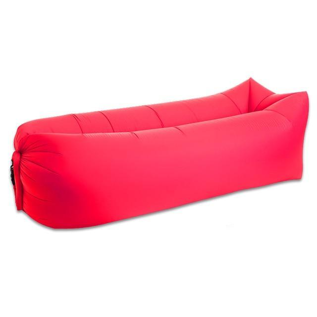 Lukowulf's Camping Haven Red Square 2019 Trend Outdoor Products Fast Infaltable Air Sofa Bed Good Quality Sleeping Bag Inflatable Air Bag Lazy bag Beach Sofa Laybag