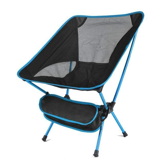 Lukowulf's Camping Haven Russian Federation / Sky blue Travel Ultralight Folding Chair Superhard High Load Outdoor Camping Chair Portable Beach Hiking Picnic Seat Fishing Tools Chair