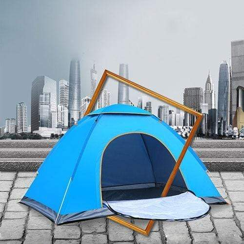 Lukowulf's Camping Haven Single door blue Anti-UV Waterproof Ultralight Tent