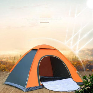 Lukowulf's Camping Haven Single door orange Anti-UV Waterproof Ultralight Tent