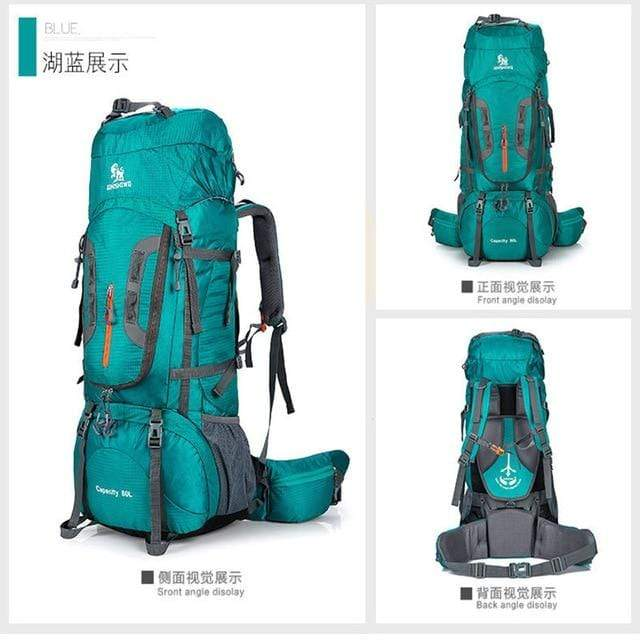 Lukowulf's Camping Haven Teal / Other 80L Outdoor camping backpack Hiking Climbing Nylon Bag Superlight Sport Travel Package Brand Knapsack Rucksack Shoulder bags 299