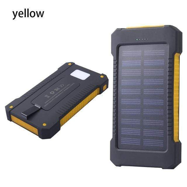 Lukowulf's Camping Haven Yellow Solar Power Bank