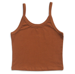 ARQ CROPPED TANK, TOFFEE
