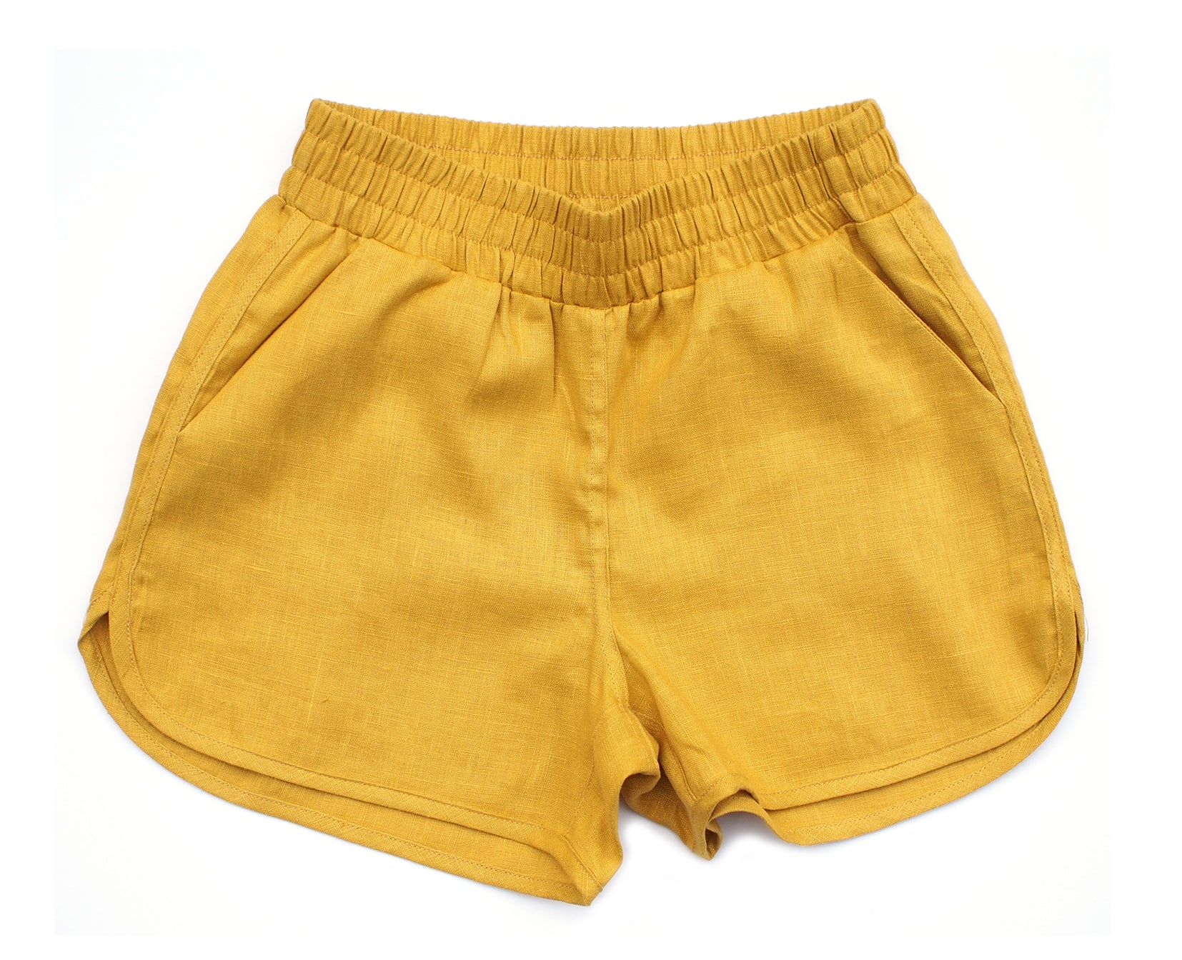 RUNNING SHORTS, GOLDENROD