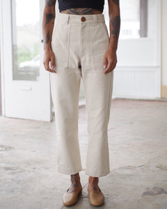 UTILITY PANTS, ALABASTER DENIM