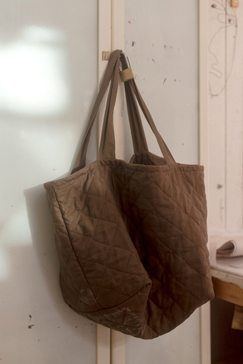 Quilted Tote, Earth