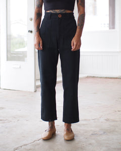 UTILITY PANTS, BLACK DENIM