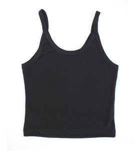 Arq Cropped Tank - BLACK