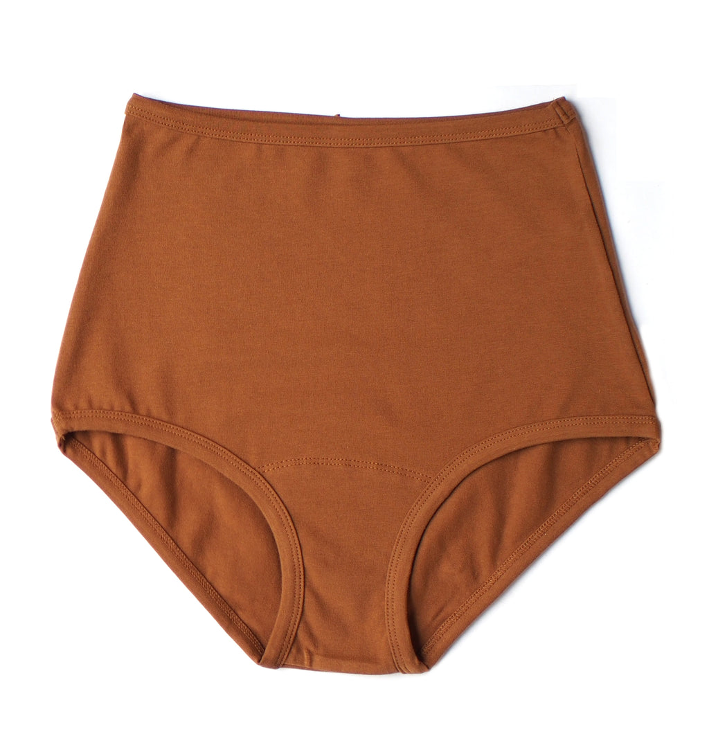 ARQ High Rise Undies, Toffee
