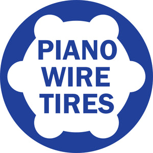 Piano Wire Tires Set - Unloaded