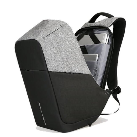 Anti-Theft Multifunction Backpack - Black + Gray Backpack