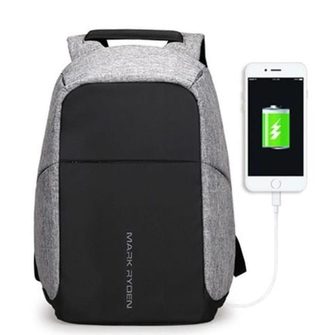 Anti-Theft Multifunction Backpack - Gray Backpack