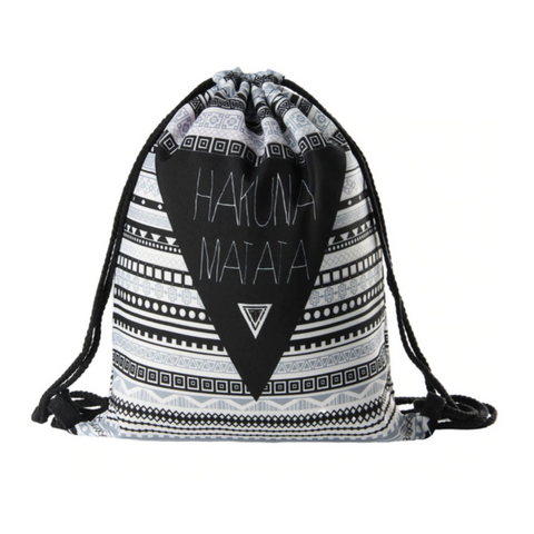 Hakuna Matata Drawstring Backpack - Design 1 Drawstring Bag