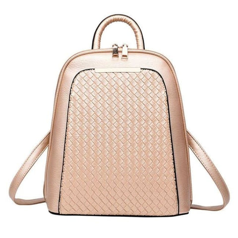 Luxury Womens Backpack - Gold Backpack