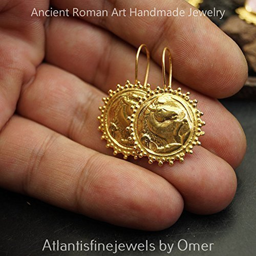 FREE SIZE* Sterling Silver Horse Coin Ring Sun Collection 24k Gold Plated Omer