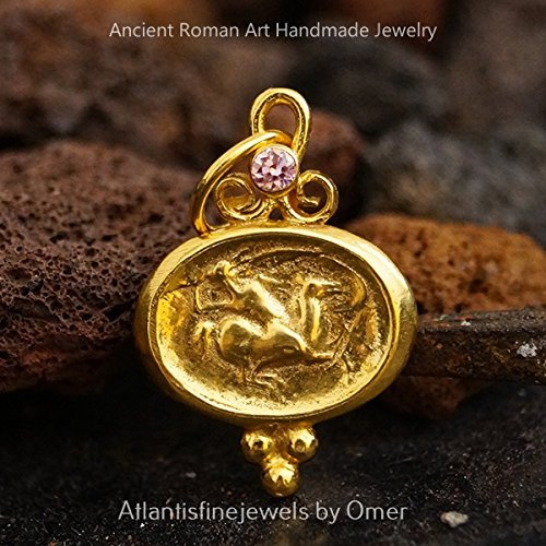 Handmade Gold Over Intaglio Ancient Commander Roman Coin Pendant Silver  Silver Ancient Roman Art By Artsmyrna Personalized Gift