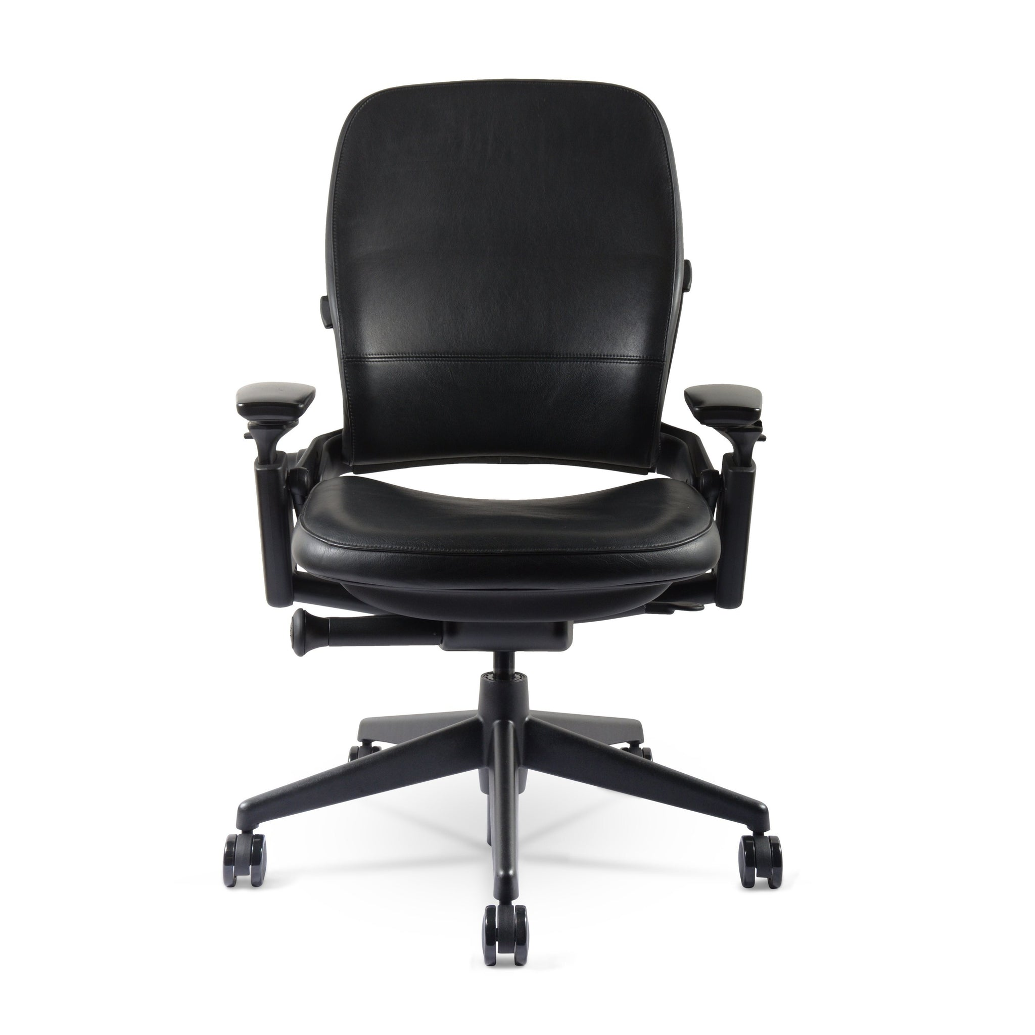 Steelcase Leap chair V36(Renewed)  Black  Leather– chairorama
