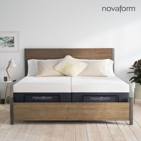 "12"" Serafina™ Split Cal King Memory Foam Mattress"