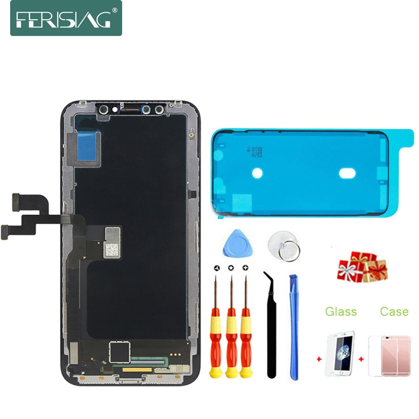 online store b5be7 90f46 100% OEM AAAA Grade AMOLED LCD Screen For iPhone X XS XR XS Max AMOLED  Screen LCD Display Digitizer Touch Module Replacement