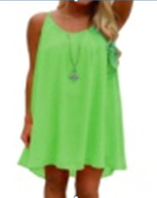 bc2d5fdc6e 14 Color Women beach dress fluorescence female summer dress chiffon ...