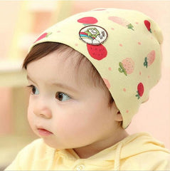 a72c93a8d35 New Arrivals Spring  Autumn Cotton Animal Printed Infant Caps Kids Beanie  Knitted Cap Newborn Baby Hat