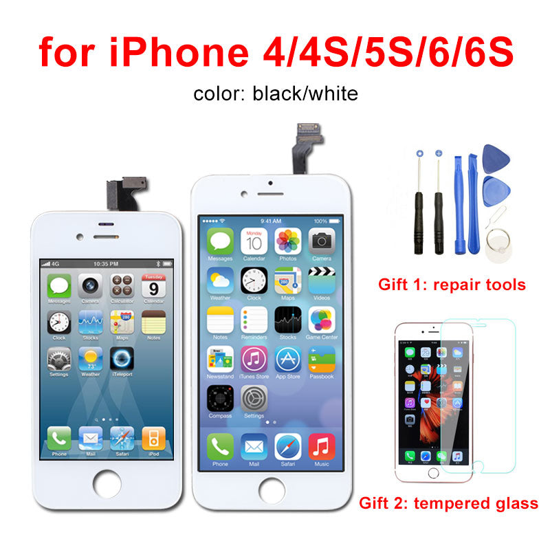 wholesale dealer b0af8 a8103 AAA Quality LCD Display for iPhone 6 6s 5s Screen Digitizer Assembly No  Dead Pixel Pantalla for iPhone 4 4S LCD