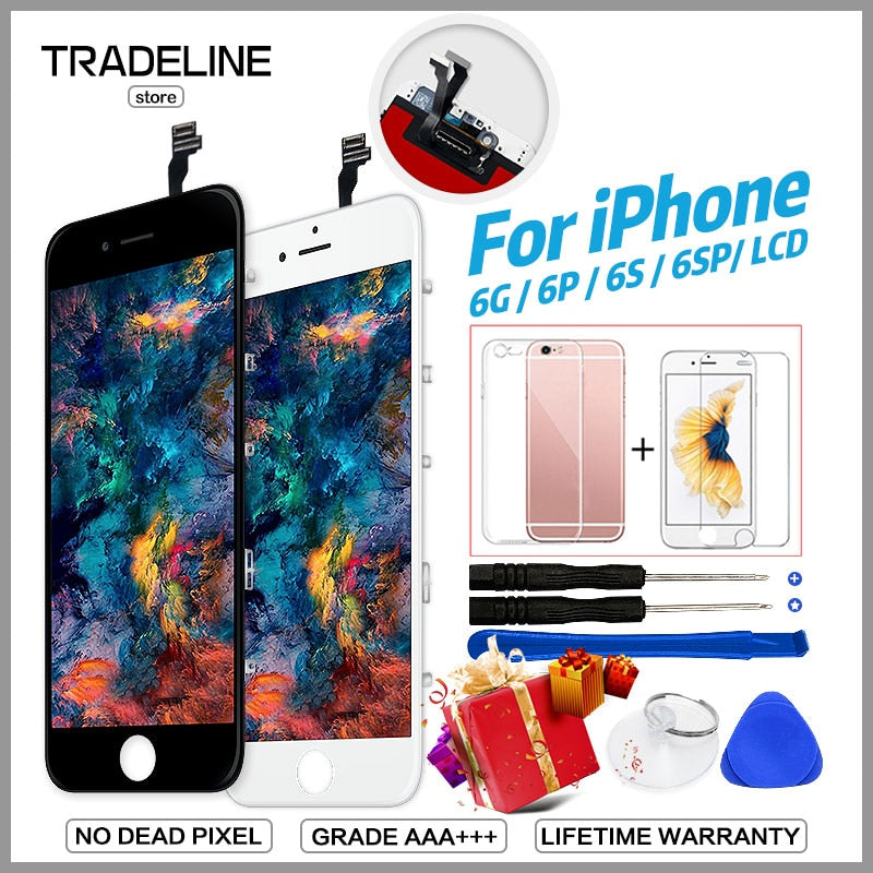 the best attitude 3ae4b d3e32 AAA Quality LCD For iPhone 4 5s 6 Display For iPhone 6 6s Plus LCD Touch  Screen Replacement Assembly 100%New No Dead Pixel Ecran