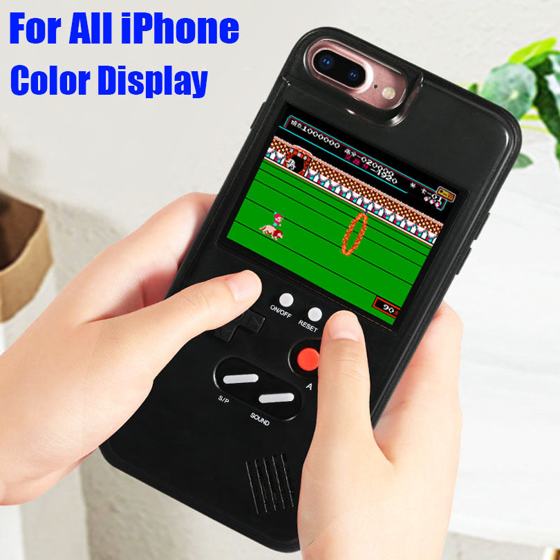 reputable site 428f0 b700b Game boy Soft TPU Phone Case For iPhone X XS Max XR 6 7 8 Plus Color  Display 36 Classic Game Console Silicone Cover IPXM9