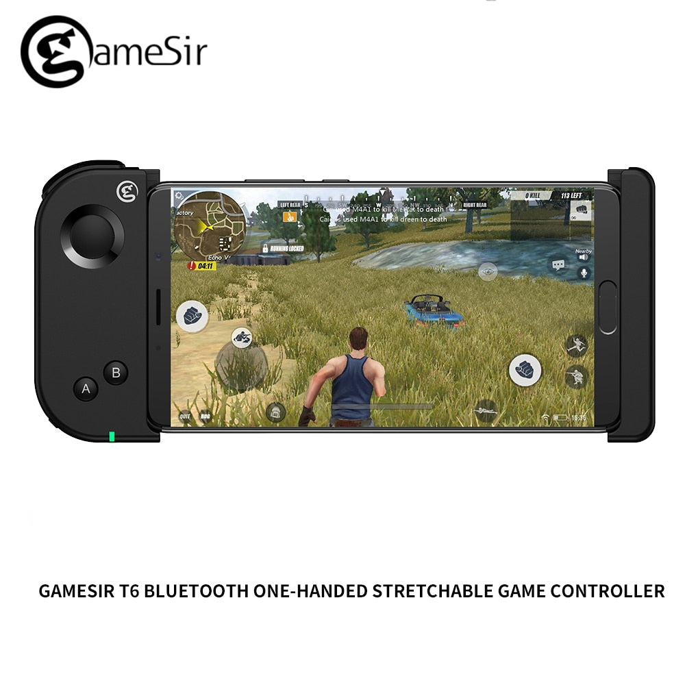 GameSir T6 Bluetooth Gamepads One-handed Stretchable Game Controller For  2 5-6 inch Android Phones (Smartphone length max 16cm