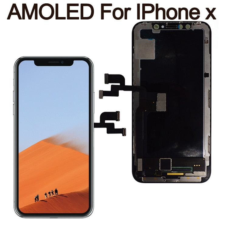 the latest 76c55 04576 Grade For iPhone X LCD Display For IPhone XS AMOLED OEM Touch Screen With  Digitizer Replacement Assembly Parts Black