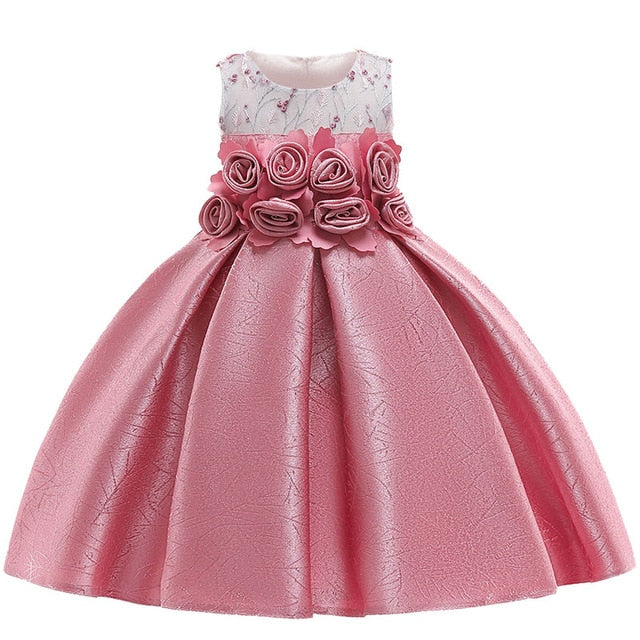 63ed1ec30775c Kids Dresses For Girls Princess Dress Summer Elegant Children ...