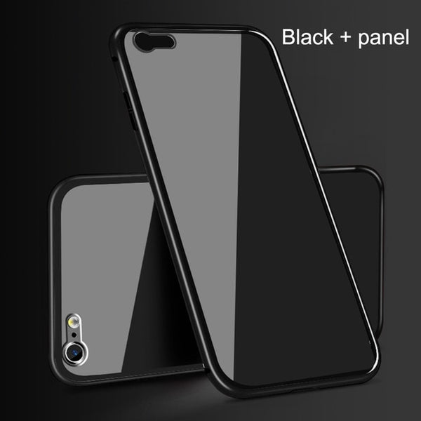 48dcbfa93a9 Marjay 360 Magnetic Adsorption Case for iPhone X 8 Plus 7 XS Max+Tempered  Glass