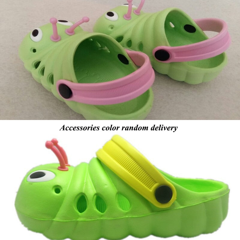 f4cbafce7e8 Kids Cute caterpillar garden shoes summer sandals Child boys and girls baby  sandals indoor slippers slip