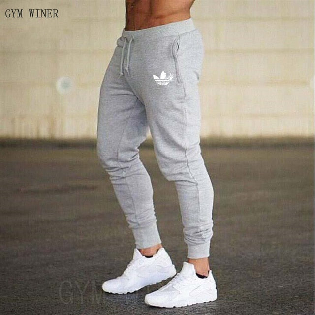 for sale outlet on sale outlet online New Men Joggers Brand Male Trousers Casual Pants Sweatpants Jogger grey  Casual Elastic cotton gyms Fitness Brand logo Sweatpants