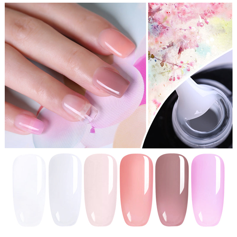 Acrylic Poly Gel Quick Extension Gel Polish Clear Pink Nude Nail