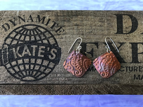 Seahorse Copper Earrings