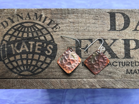 Gear Copper Earrings