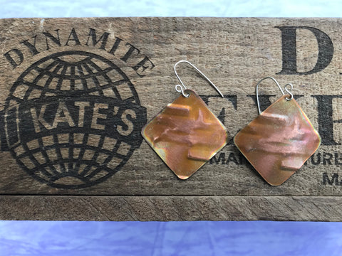 Abstract Copper Earrings
