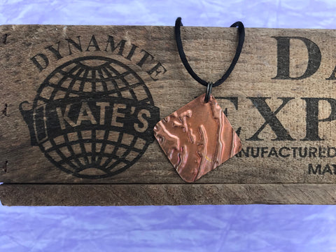 Wood Knot Copper Pendant