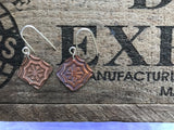 Moroccan Tile Copper Earrings